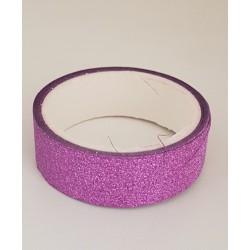 Tape / Adhesive glitter tape - purple - 1.4 cm x 2.5 m