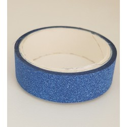 Tape / Adhesive glitter tape - blue - 1.4 cm x 2.5 m