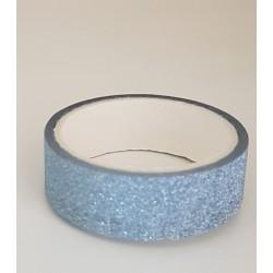 Tape / Ruban adhésif pailleté - bleu clair - 1.4 cm x 2.5 m