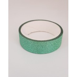 Tape / Ruban adhésif pailleté - vert - 1.4 cm x 2.5 m