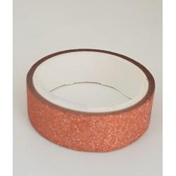 Tape / Adhesive glitter tape - copper - 1.4 cm x 2.5 m