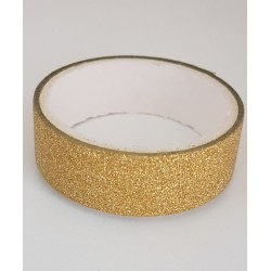 Tape / Adhesive glitter tape - gold - 1.4 cm x 2.5 m