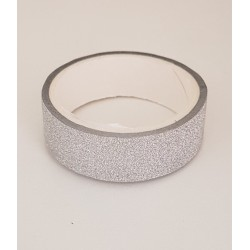 Tape / Adhesive glitter tape - silver - 1.4 cm x 2.5 m