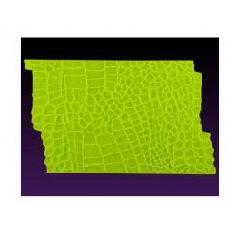 Texture alligator skin - impression mat - 18 x 10.50cm - Marvelous Molds
