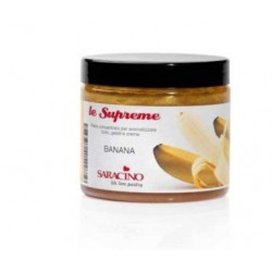 Concentrated flavored paste - Banana - 200g - Saracino