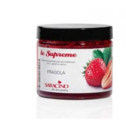 Concentrated flavored paste - Strawberry - 200g - Saracino