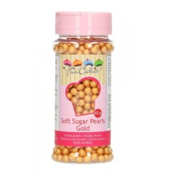 Perles tendres en sucre - or -  Ø5mm - 60g - Funcakes