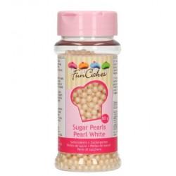 Sugar pearls - pearl white - Ø4mm - 80g - Funcakes