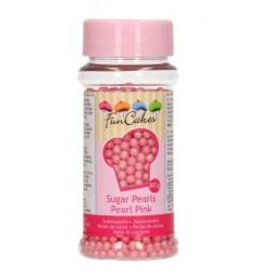Sugar pearls - pearl pink - Ø4mm - 80g - Funcakes