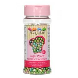 Perles en sucre - Harlequin métallisé - Ø4mm - 80g - Funcakes