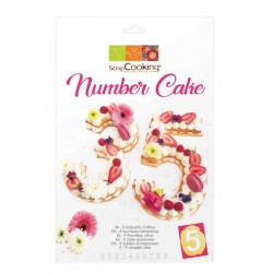 Kit Number Cake - ScrapCooking