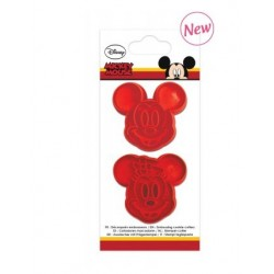 Mickey & Minnie embossing cutters - 2pcs - ScrapCooking