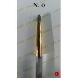 Outil de modelage avec pointe ronde en silicone gris N°0