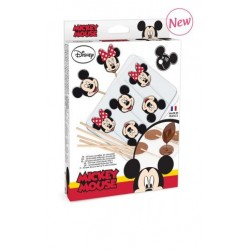 Mickey & Minnie chocolate lollipop blister kit - ScrapCooking
