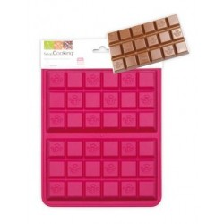 Moule silicone chocolat 2 tablettes - ScrapCooking