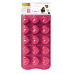 Moule silicone chocolat coeurs - ScrapCooking