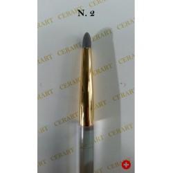 Outil de modelage avec pointe ronde en silicone gris N°2
