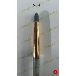 Outil de modelage avec pointe ronde en silicone gris N°4