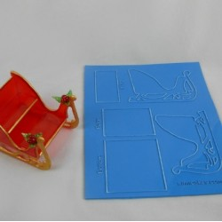 "Sculpture Kit Sleigh - approx. 4 1/4"" - SimiCakes"