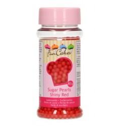 Perles en sucre - rouge - Ø4mm - 80g - Funcakes