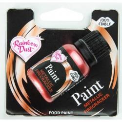 metallic edible paint - firecracker - 25 ml