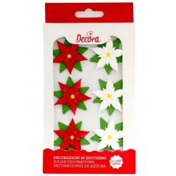 Christmas Stars Sugar Decorations - 6p - Decora