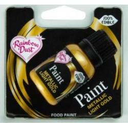 metallic edible paint - light gold - 25 ml