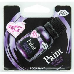peinture alimentaire métallique - violet  - 25 ml
