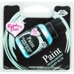 metallic edible paint - pearlescent baby blue - 25 ml