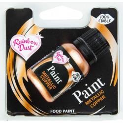 peinture alimentaire métallique - cuivre - 25 ml
