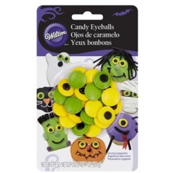 Grands yeux en sucre colorés Halloween Wilton - 28g