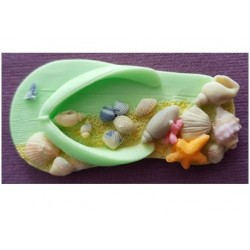 Moule en silicone - sandale de plage - Alphabet Moulds