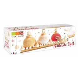 Kit moule bûche boules de Noël - ScrapCooking