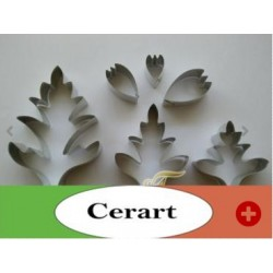 """Cutters for flowers """"cosmee"""" (M) 6 pieces"""