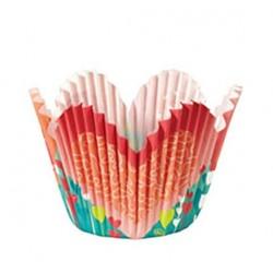 caissettes à cupcake pétale Valentine - 24pcs - 5cm Ø - Wilton