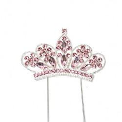 Topper Diamante - pink crown - Sugar Crafty