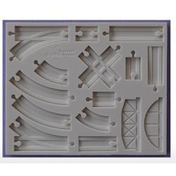 Moule en silicone - Voie ferrée de base  - Alphabet Moulds