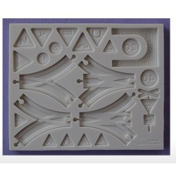 Moule en silicone - Compléments de voie ferrée - Alphabet Moulds