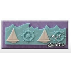 Moule en silicone - Bordure nautique - Alphabet Moulds