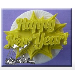 Moule en silicone - Happy New Year - Alphabet Moulds