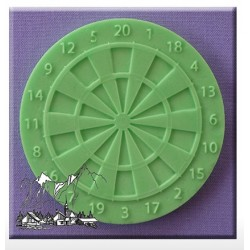 Silicone Mold - Dartboard Cupcake Topper - Alphabet Moulds