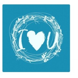 I Love U – Mini Mesh Stencil - Crystal Candy