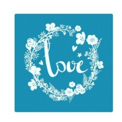 Love – Mini Mesh Stencil - Crystal Candy