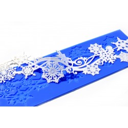 Snowflake Swirls - Lace Mould - Crystal Candy