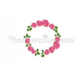 stencil Couronne florale set 3 pièces - Cookie Countess