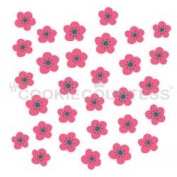 stencil Fleur délicate set 2 pièces - Cookie Countess