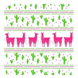 Llama and Cactus / Lama et Cactus set 2 pièces