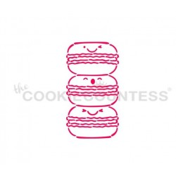 stencil Macaron PYO - Cookie Countess
