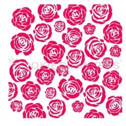 stencil Jardin de roses - Cookie Countess
