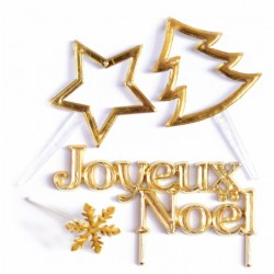 4 accessoires de Noël dorés - ScrapCooking